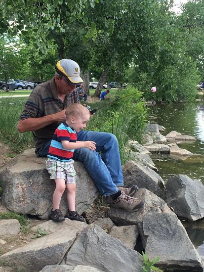 Catching my 1st fish! photo