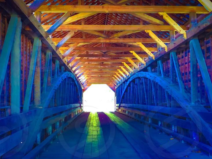 Covered bridge architect classic wooden photo