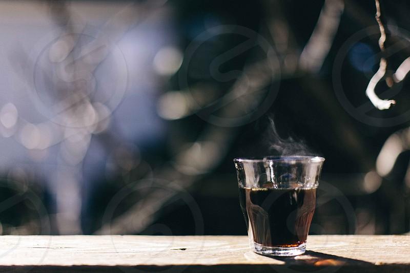 Coffee. Light. Steam. photo