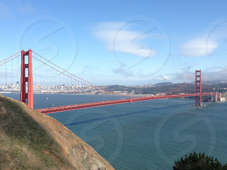 San Francisco Bay bridge California landscape water travel photo