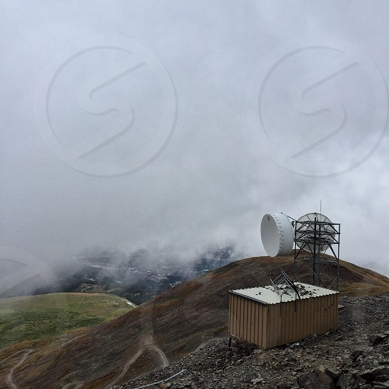 Old weather station high in the Rocky Mountains photo