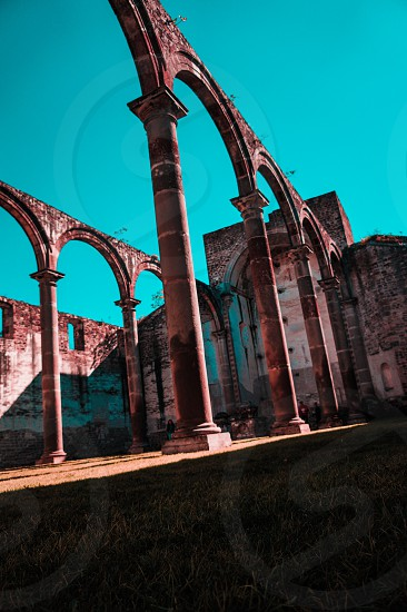 pictures about tecale de herrera mexico. there ir an old church in ruins photo