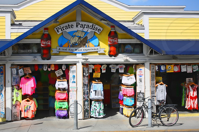 Colorful tourist store selling pirate costumes photo