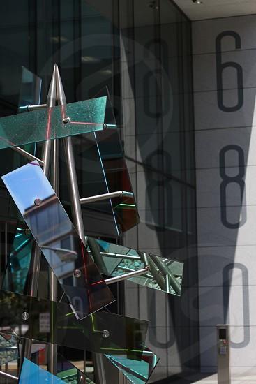 square glass photo