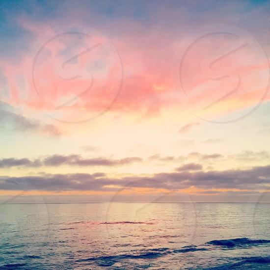 Sunset Laguna Beach California Southern California Coast Catalina Island Island Clouds Pink Orange Sky End Of The Day Ocean Pacific Ocean Nature Beautiful Peaceful Mother Nature Summer Coastal Beachy Sun Natural Magical photo