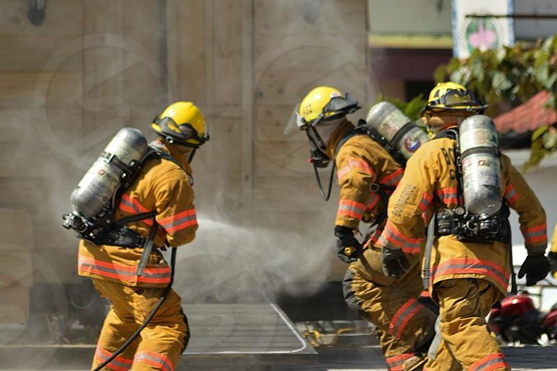 Firefighters practice photo