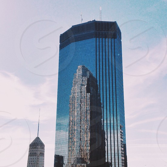 blue mirrored tall building photo