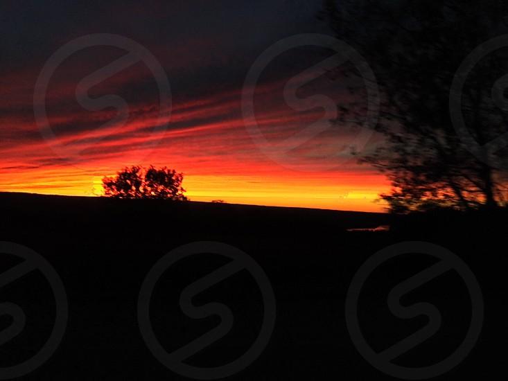 Winter sunset - Ithaca NY photo