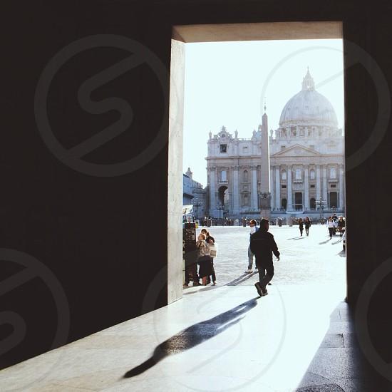"""Finding my way"" - shadow darkness Rome  Vatican photo"