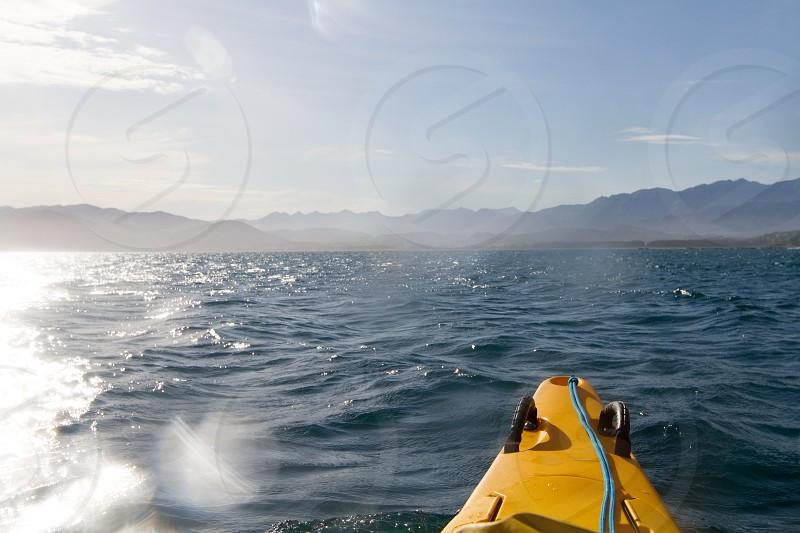 Kayaking in New Zealand photo