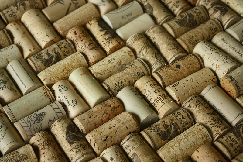 Wine cork collection/pattern example. photo