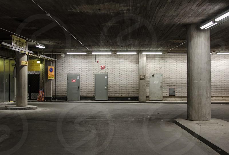 gray concrete post photo