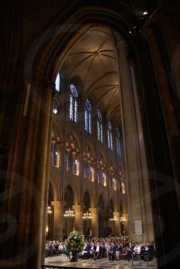 Notre Dame Cathedral Paris France churches cathedrals travel architecture arches stained glass photo
