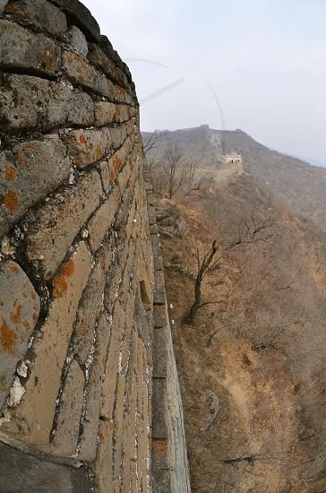 Great Wall of China China Landscape Scenic Culture Asia Bricks Nature photo