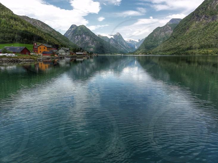 mountain lake view  photo
