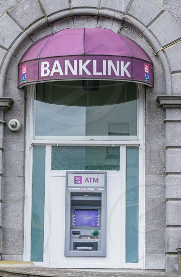 An ATM at Allied Irish Bank in Ireland. photo