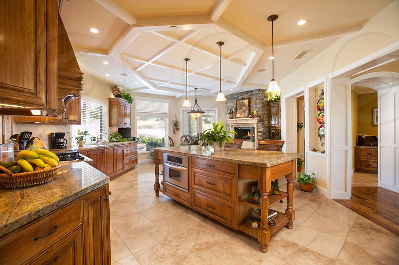 Beautiful custom contemporary residential kitchen. photo