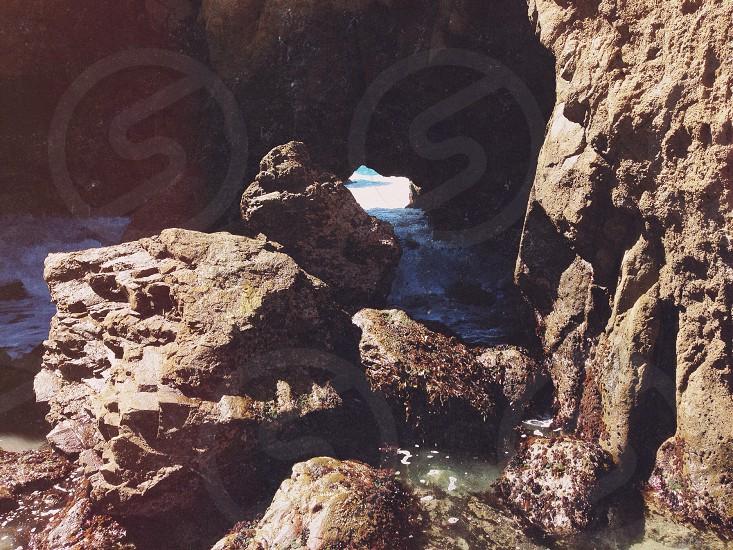 seaside rocks photo