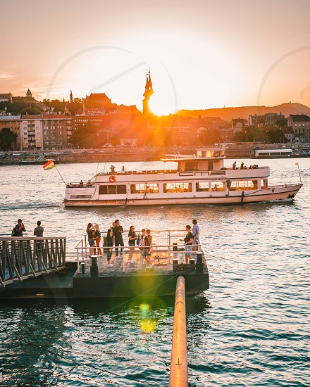 Sunsets in Budapest Hungary photo