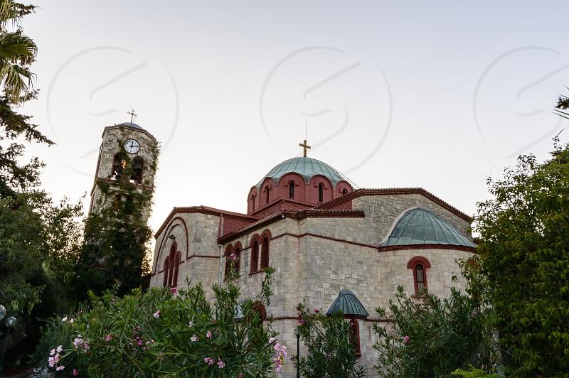 Orthodox church dedicated to Saint Nicholas Pefkochori Chalkidiki Greece photo