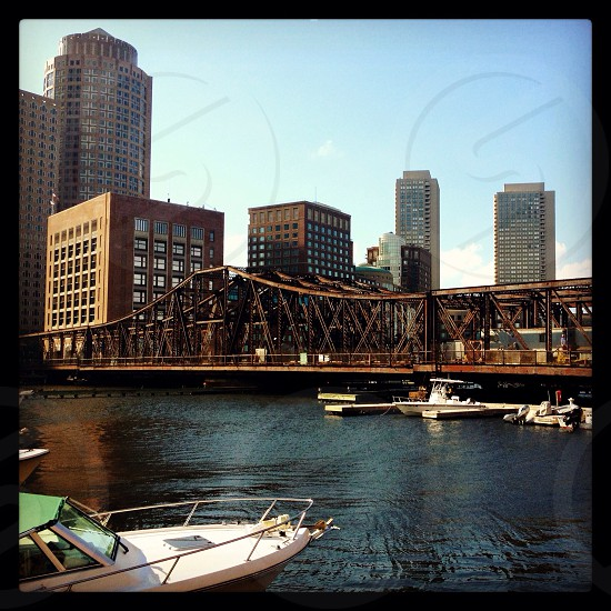 View from a seafood joint in downtown Boston photo