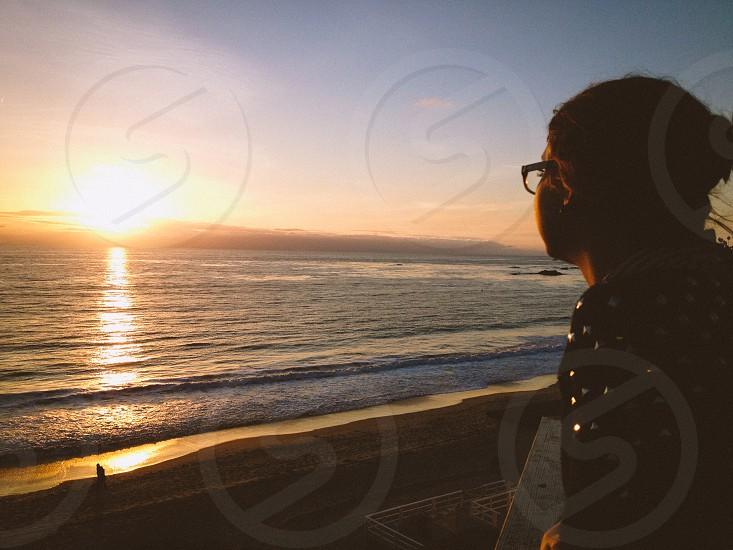 women's black eyeglasses photo
