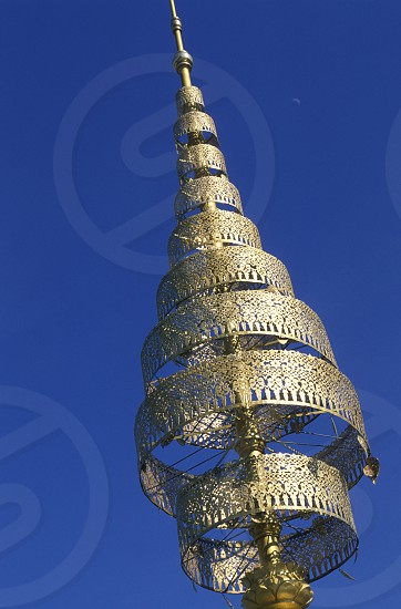a detail of the king palace in the city of phnom penh in cambodia in southeastasia.  photo