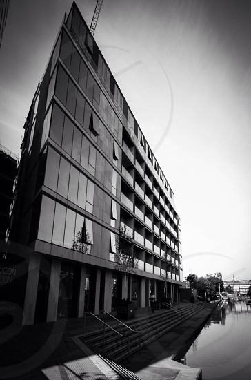 Sharp triangular architecture building blackandwhite photo