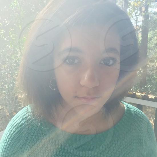 Girl in the sunshine  photo