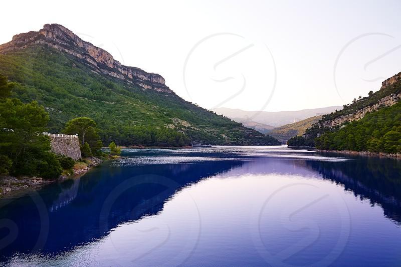 Ulldecona reservoir dam in Castellon of Spain photo
