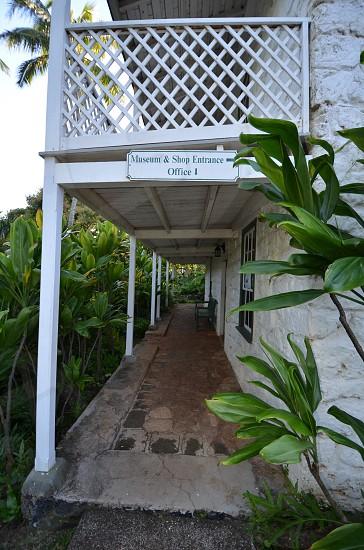 Bailey House Museum entrance Maui Hawaii Hawaiian antiquities collection missionary plantation era artifacts historical society photo
