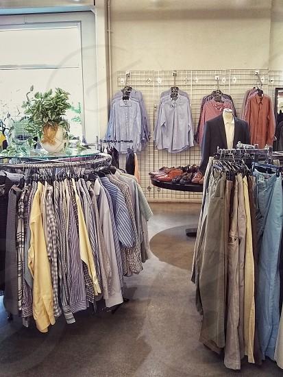Men's clothing store shirts photo