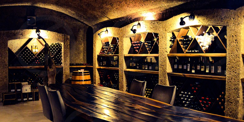 Beautiful Wine Cellar. photo