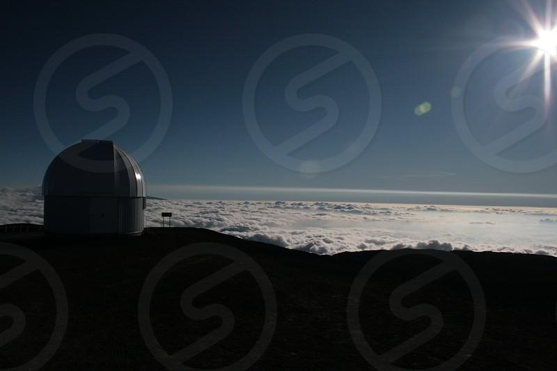 On Mauna Kea Observatory Above the clouds photo
