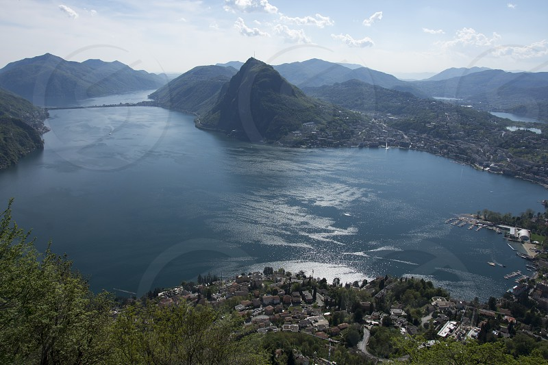 view from Monte Brè sopra Lugano photo