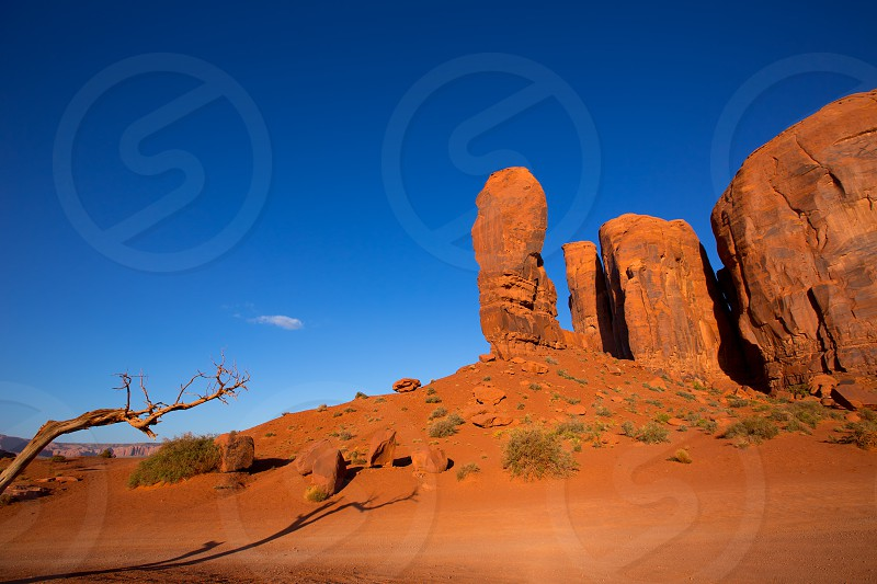 Monument Valley The Thumb Cly Camel Butte National park Utah photo