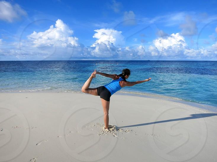 Yoga in the Maldives photo
