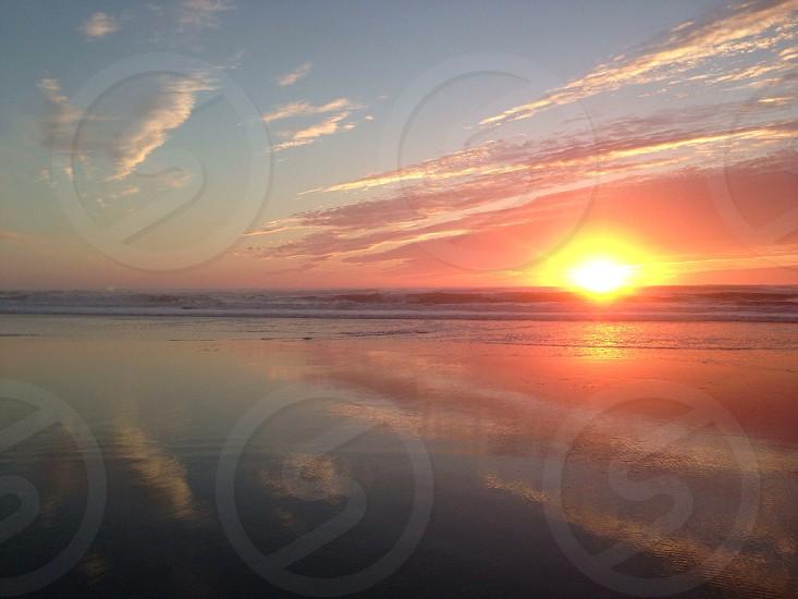ocean at sunrise photo