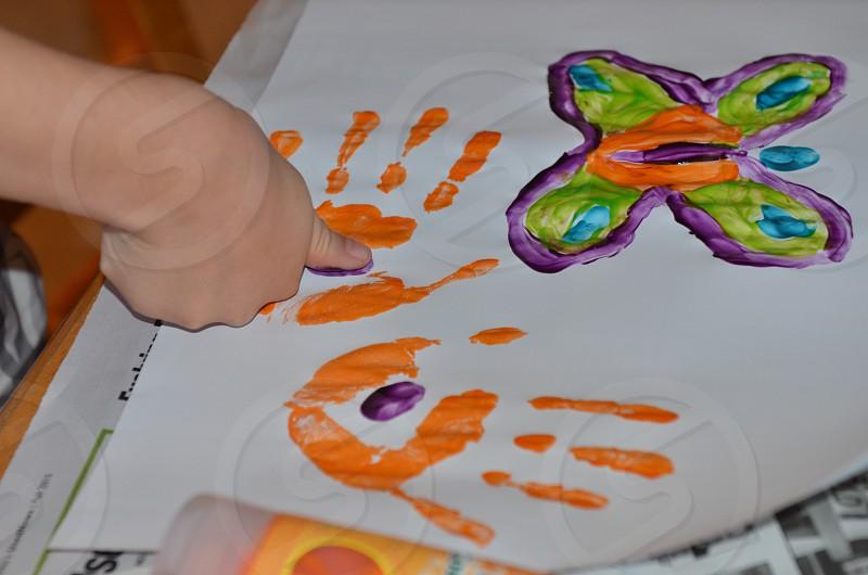 Finger painting kids art art projects activities photo