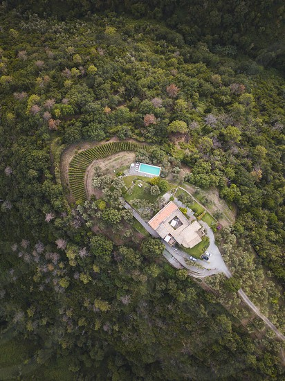 A secluded escape sits atop the Italian countryside.  photo