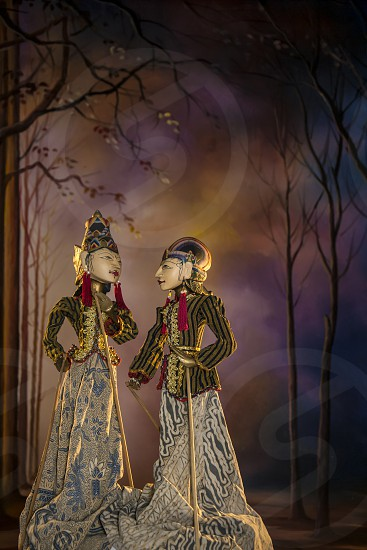 Wayang Golek traditional puppet show from Java Indonesia photo