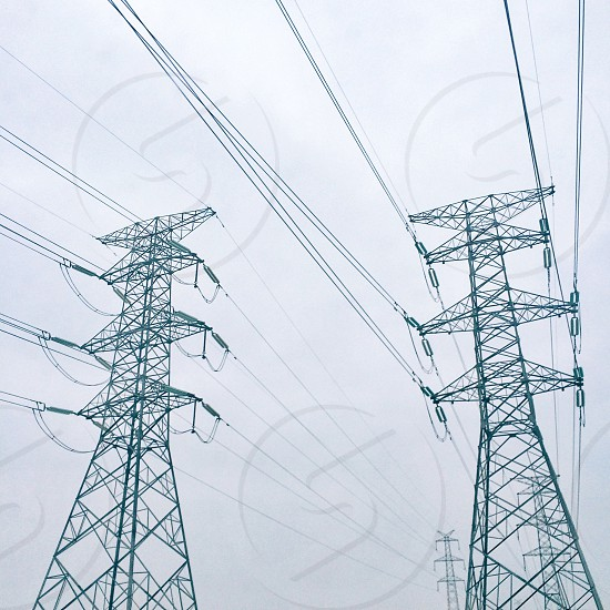 Power lines of Shanghai photo
