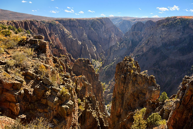 Black Canyon of the Gunnison viewed from the North Rim. photo