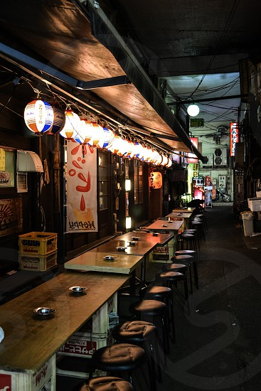 Slow night in a local Izakaya in Tokyo Japan photo