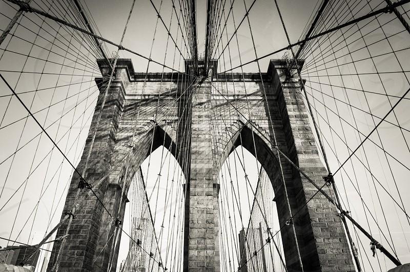 Brooklyn Bridge NYC. B&W photo