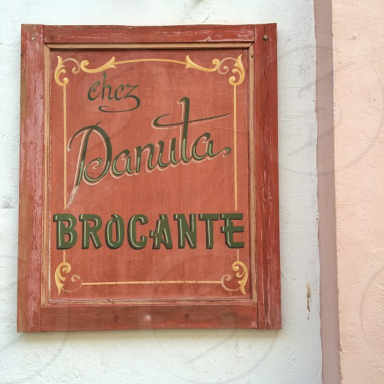 chez danuta brocante sign board photo