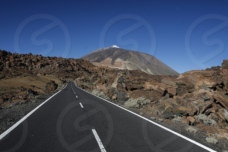 The Volcano Teide on the Island of Tenerife on the Islands of Canary Islands of Spain in the Atlantic.   photo