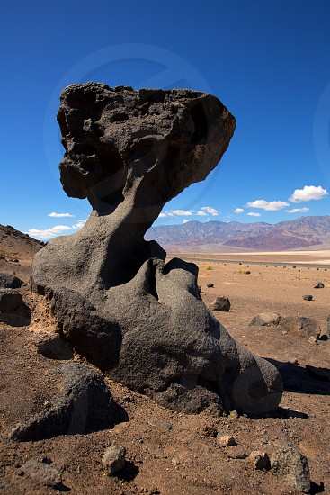Death Valley National Park California stone formations in the desert photo