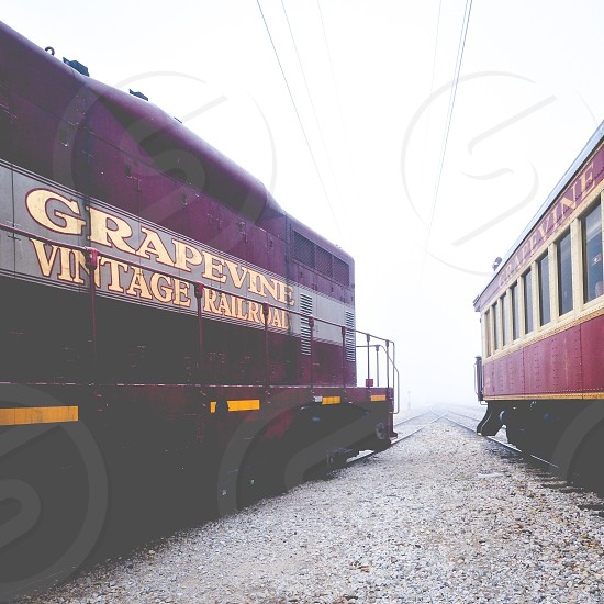 Foggy morning and trains photo