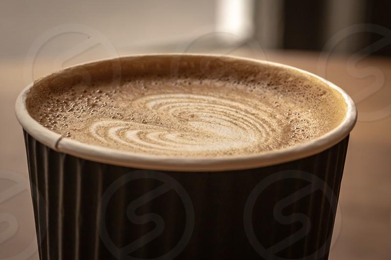 Close up of a Latte  photo